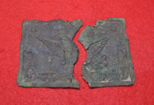 Carved Militia Plate Recovered From the Retreat Route in Buckingham, Virginia