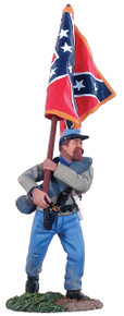 W Britain Confederate Infantry Flagbearer Advancing - Army of Northern Virginia Battle Flag No 31012