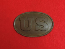 US Cartridge Box Plate Recovered in Richmond, Virginia