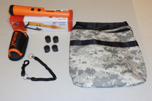 Deteknix Orange Xpointer and Camo Finds Pouch