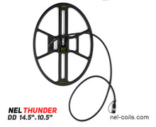 """NEL Thunder 14.5"""" x 10.5"""" DD Search Coil for Quest Q20, Q40, X5 and X10 Series of Metal Detectors"""