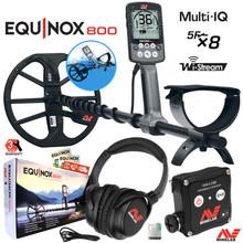 "Minelab EQUINOX 800 Multi-IQ Waterproof Metal Detector & 11"" DD Coil"