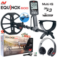 "Minelab EQUINOX 600 Multi-IQ Waterproof Metal Detector, 11"" DD Coil and Free Bluetooth Headphones"