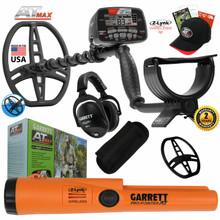Garrett AT MAX Waterproof Metal Detector With Wireless Headphones & ProPointer AT