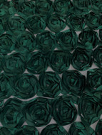 Green 3D  Roses on Tulle