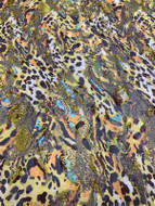 Multi Silk Burnout Prints 54""