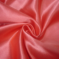 Poly Crepe Back Satin - Bright Coral