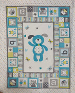 Cloud Playful Puppy Cotton Panel