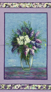 Purple Blooming Vase Cotton Panel
