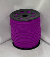 "Dark Purple Ganel 1/16"" Corded Elastic"