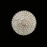 Riviera Crystal Button Large