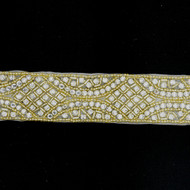 Venus Swarovski Gold Crystal Bead Trim