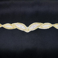 Holly Gold Rhinestone Trim