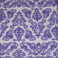 Purple Emb. Beaded My Lady Lace