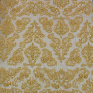 Antique Gold Emb. Beaded My Lady Lace