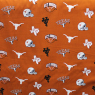 UT Burnt Orange Get Hooked Cotton Print