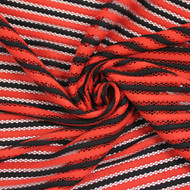 Red/Black Neoprene Stripe