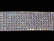8 Row Silver AB Crystal Trim