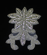 Erika Silver Beaded Crystal Applique