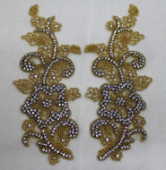 Sophia Gold Crystal Applique