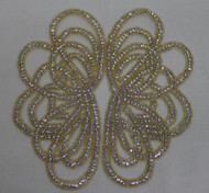 Jayla Gold Crystal Applique