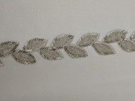 Silver Leaf Beaded Trim