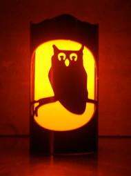 Halloween Owl - Metal Candle Holder Luminary