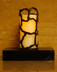Giraffe Print - Metal Candle Holder Luminary