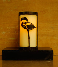 Flamingo - Metal Candle Holder Luminary
