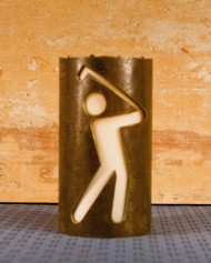 Golf Stick Figures - Metal Candle Holder Luminary