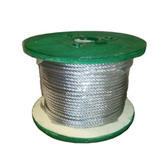 "Galvanized, Aircraft Cable, 1/4"" OD 7x19, 250' Spool"