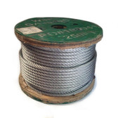 "Galvanized, Aircraft Cable, 3/8"" OD 7x19, 250' Spool"