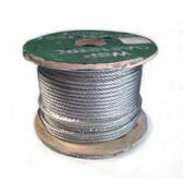 "Galvanized, Aircraft Cable, 5/16"" OD 7x19, 250' Spool"