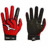 Mizuno 330264 Adult Vintage Pro Batting Gloves, Red, Small