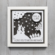 Love You To The Moon Frame