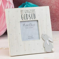 Part Of The Petit Cheri Range With Cute Rabbit Design This Frame Holds a 9cm Photo And Has My Gorgeus Godson Text 19cm x 19cm x 1cm