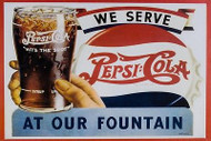 Pepsi drink Advertisment Vintage Retro Metal Sign, kitchen, gift