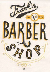 """Retro barber shop"", Metal Plaque/Sign"