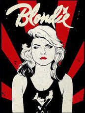 BLONDIE Retro Metal Plaque