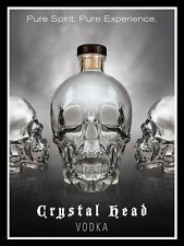 Crystal Head Vodka, Retro Metal Sign/Plaque