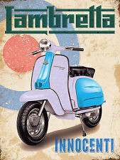 Lambretta Retro Metal Plaque