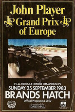 Grand Prix Brands Hatch Advert Retro Vintage Style Metal Sign