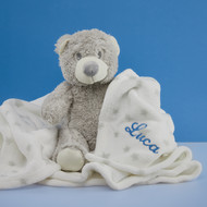 Personalised Baby Blanket & Teddy