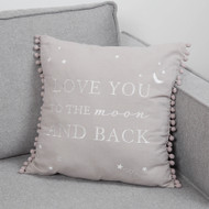 Love You To The Moon And Back Baby Cushion