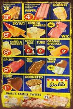 Walls Ice Cream Retro Menu