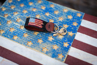 The Heritage Flag Key Fob