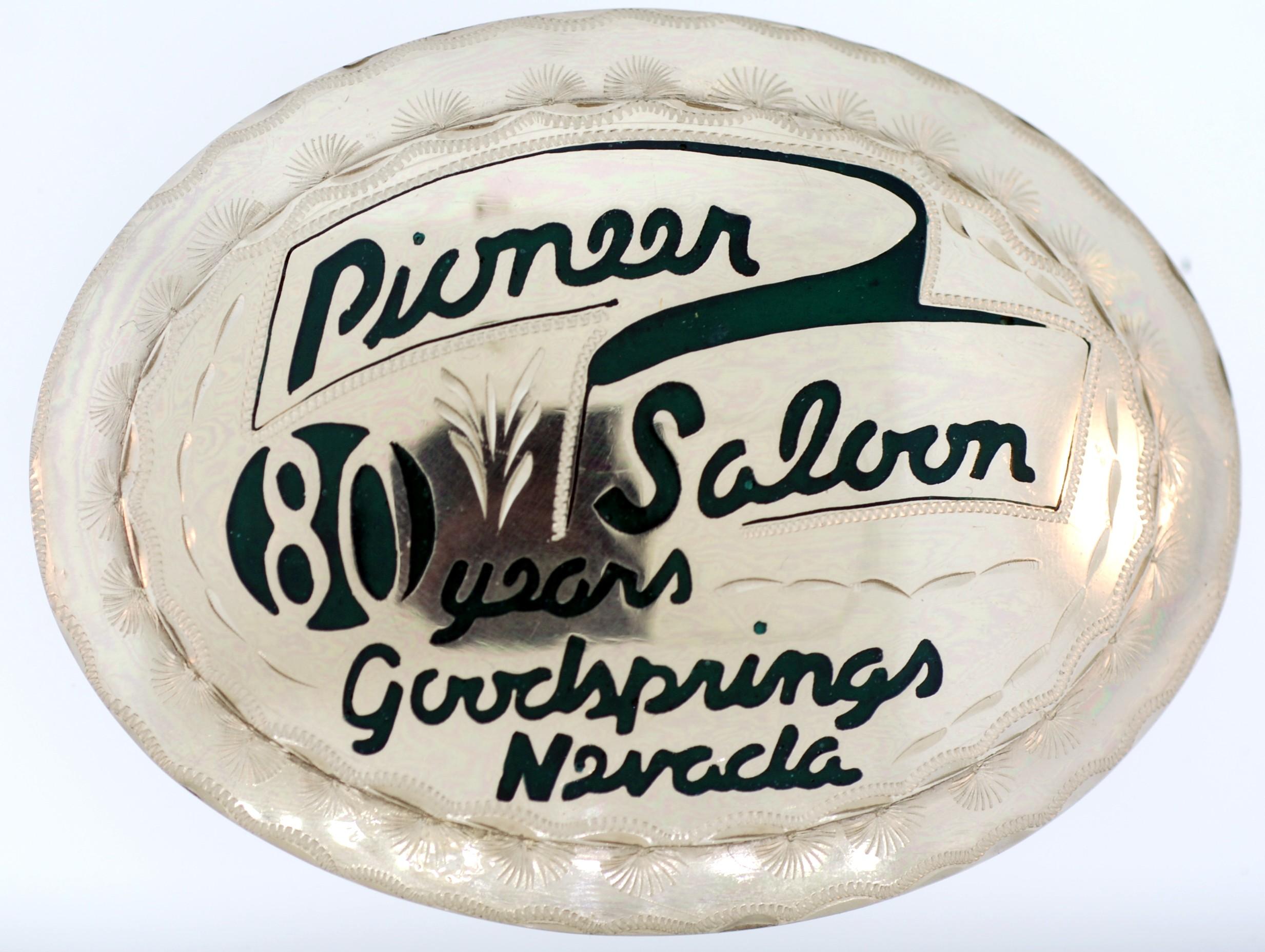 Pioneer Saloon 80th Anniversary Buckle