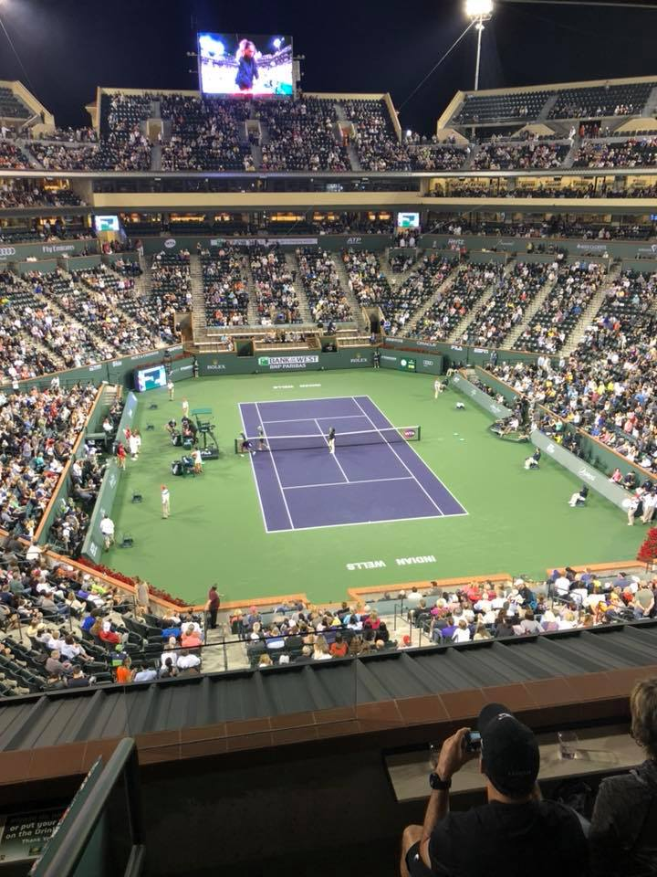Jeffrey Scott and guests witnessed the return of Serena Williams to the BNP Paribas Open live on March 8.