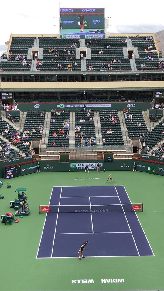 The matches started early and ran until dark each day in Indian Wells, but the action never stopped!