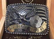"Limited Edition ""God Bless POTUS 45"" Buckle"